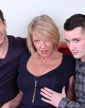 Hot and steamy British mature threesome