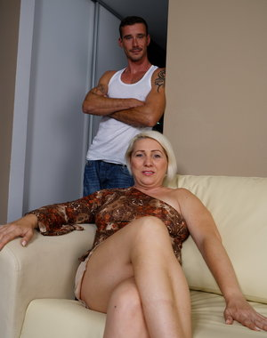 Horny housewife doing her man