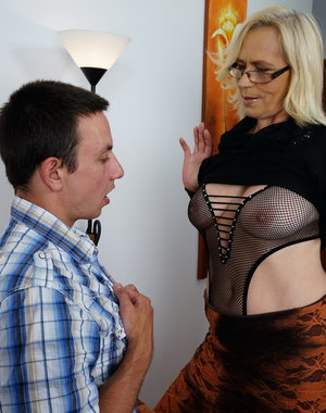 The guy next door loves fucking a naughty housewife