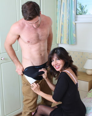 Hot British MILF doing her lover
