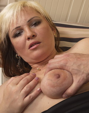 Horny blonde housewife gets it in POV style