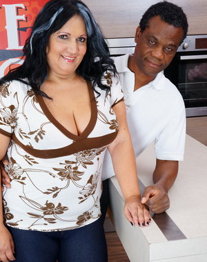 Big mature lady loves interracial sex with her black lover