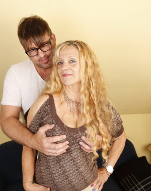 This naughty German housewife loves to fuck around