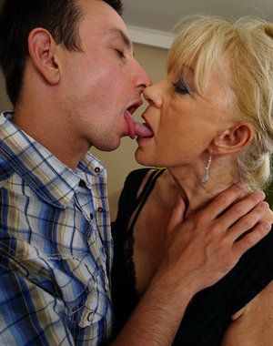 Naughty housewife getting dirty with her toy boy