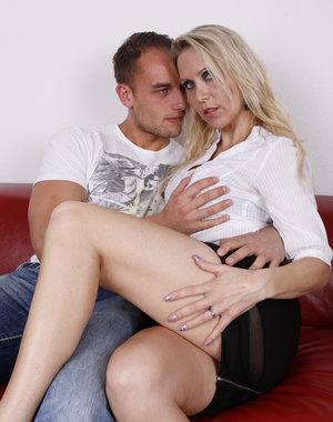 Hot German housewfie fooling around with her younger lover