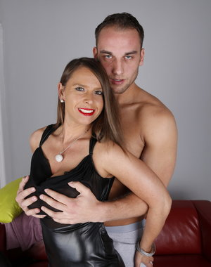 Hot big breasted German mom playing with her lover