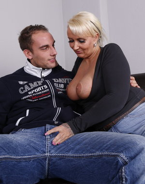 Chubby German housewife playing with her boyfriend