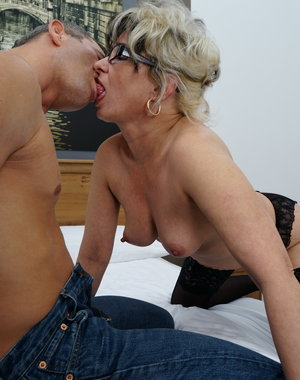 This naughty housewife loves t foor around with her lover