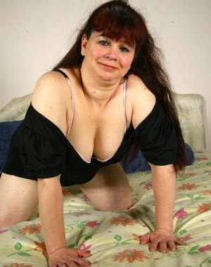 Naughty chubby Dutch housewife playing with herself