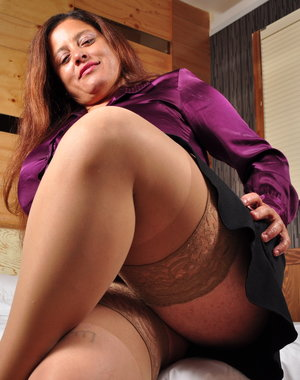 Big brested Latin mature lady getting frisky