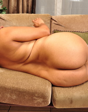 Naughty Latina housewife grinding on the couch